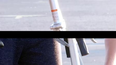 实拍国外用户使用airwheel r5智能折叠电动车便携方便生活片段