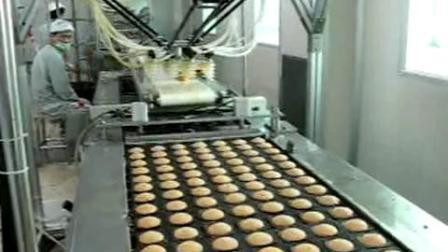 并联机器人蛋黄派拾放理料