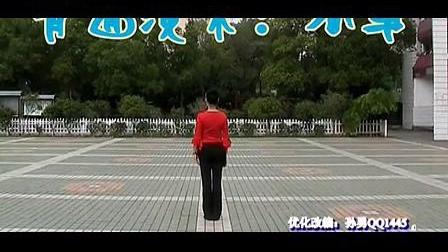 高安子君广场舞-油菜花儿开(背面慢动