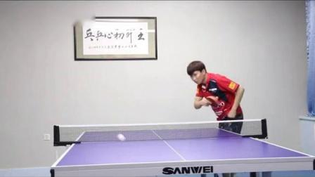 王开初心乒乓独家教学🔥逆旋转发球多角度示范