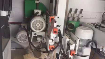 锐亚木工机械REIGNMAC锐亚双端铣带砂边加工竹木砧板