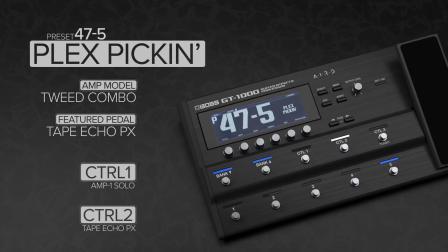 BOSS GT-1000 Version.2 版本新增音色模块试听