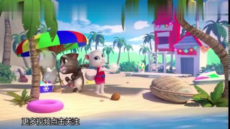 汤姆猫动画片,巧吃生日蛋糕,儿童搞笑、尴尬趣事