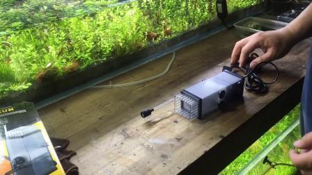草缸 除油膜器的使用  森森  方清阁水族