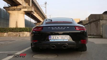 【杭州GeekAuto】保时捷911 991.2改全段AK天蝎排气 声浪