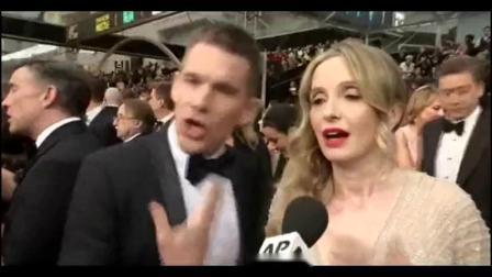 86届奥斯卡颁奖《爱在日落黄昏时》男主角伊桑·霍克