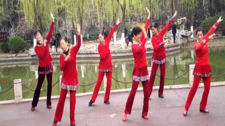 广场健身舞《梦回云南》《家乡的味道》济南百花公园中老年舞蹈