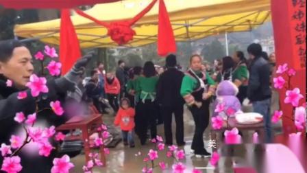 贵州省麻江县青杠林2019年姑妈回娘家拜年视频留影纪念