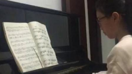 丁家浩琴行 汪思琪同学练习贝多芬《G大调小奏鸣曲》第二乐章