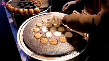 """韩国美食城现""""黄金""""小面包,制作过程简单,口感却令人醉仙梦死"""