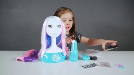 混血萌娃喷笔化妆,教你打造完美妆容和发型宝宝爱美造型工作室