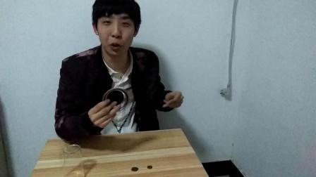 河南魔术师谷明硬币穿越杯子魔术