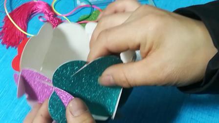 怎么用梅花形的纸做美丽的绣球~简单易学