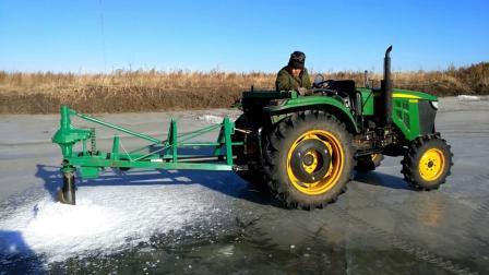 依安刘凤勇研发钻冰冬捕利器渔场钻冰机大型渔场冬捕专用钻冰机挖冰机钻眼机