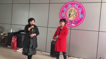 苏州淮剧票友星期日聚会,仁仁和唐唐二位美女老师演唱牙痕记(金殿认子)选段