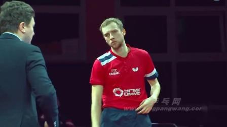 2019-2019欧洲乒联男子冠军联赛 半决赛 第1轮 第1场 第3盘 什巴耶夫vs卡尔松K 乒乓球比赛视频 完整