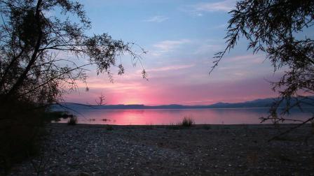 Y-1290-实拍日落时分加利利的海视频素材