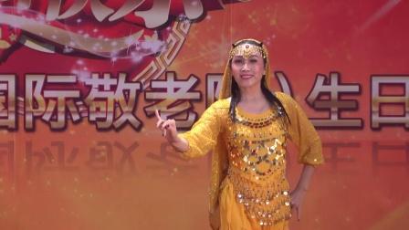 美丽的少女双人舞新疆舞赛乃姆