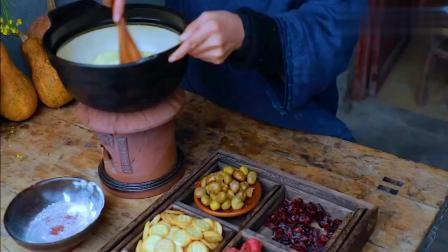 李子柒:亲手制作美味的花生芝麻糖,香甜可口的大实小吃—雪花酥