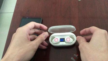 J37蓝牙耳机双耳单耳配对教程