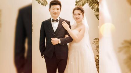庞先生和朱小姐的婚照