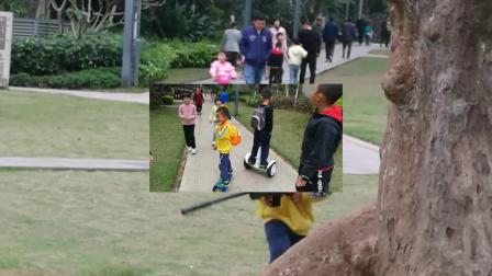 赫有友哥俩玩平衡车!