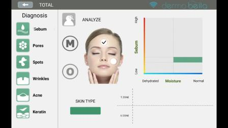 如何测量水分和皮脂_Dermobella skin_安卓系统