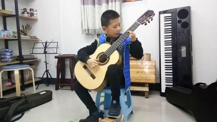 二年级沈灏博《雨滴》古典吉他