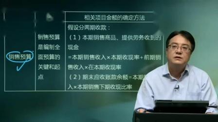 第19讲 主要预算的编制(1)