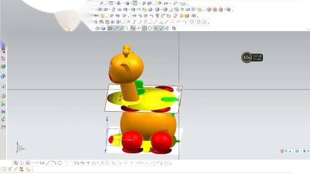 UG图片曲面造型设计  长颈鹿-合肥标新设计