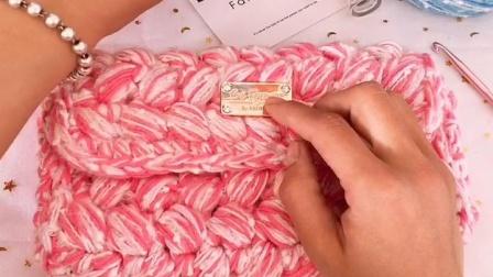 泫雅同款编织包钩针视频教程-1织法教程