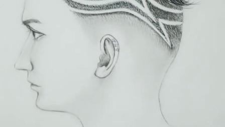发型师素描设计雕刻草图,喜欢双击666