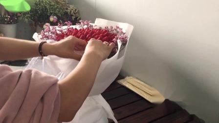 草莓花束第十款白纱