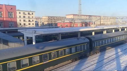 K1301(北京—满洲里)从牙克石站二站台发车