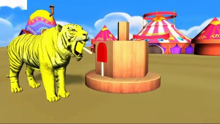 错颜色的冰淇淋与野生动物游戏相匹配的儿童狮子熊大猩猩老虎恐龙