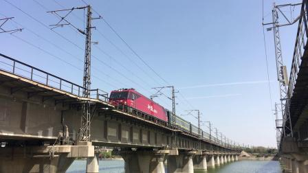 陇海线 K1673次通过西安枢纽灞河铁路桥
