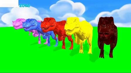 颜色恐龙歌曲流行童谣手指押韵幼儿区