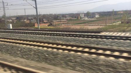 徐兰高速线 G1884次运行于西安枢纽 西安北-湾李线路所区间