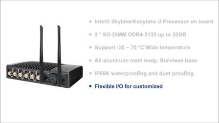 捷波IP69K防水户外电脑 - HBFMF833(W)系列