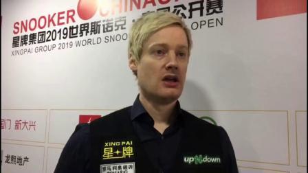 2019斯诺克中国公开赛 第1轮 基尚·希拉尼VS尼尔·罗伯逊 罗伯逊:20小时不睡,给我一大杯咖啡就能赢得胜利!