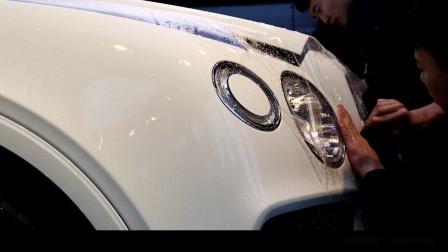 宾利添越安装二代TPU威固漆面保护膜