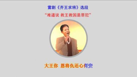 """雷剧《齐王求将》选段""""难道说 救王救国是罪"""""""