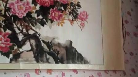 满屋满墙都挂着自己画的国画
