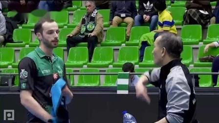 2019-2019欧联杯乒乓球赛 半决赛 第1场 第2盘 卡尔瓦罗vs皮切福德 乒乓球比赛视频 完整