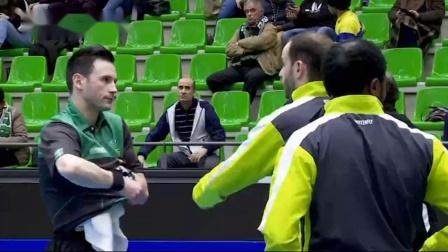 2019-2019欧联杯乒乓球赛 半决赛 第1场 第3盘 蒙特罗vs范胜鹏 乒乓球比赛视频 完整