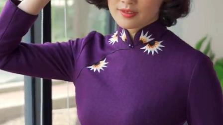 逸红颜 半冬 秋冬新款年会礼服羊毛女长袖中长款舒适优雅旗袍-淘宝网