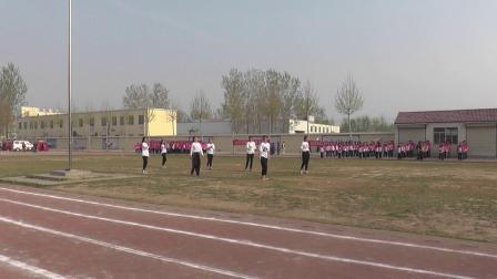 金乡县文峰中学2019春季运动会健美操
