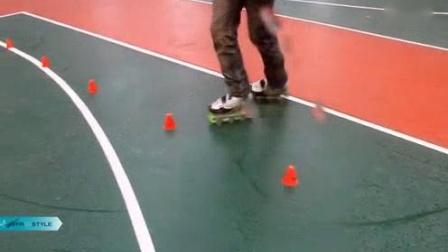 我在轮滑教学YJS带你练技术9_高清截了一段小视频