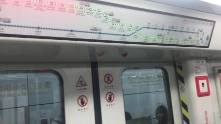 广州地铁2号线A4老鼠(02x019-020)(车尾驾驶室视角)飞翔公园-三元里 和XS-1254
