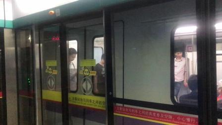 广州地铁8号线A5英威腾老鼠(08x163-164)昌岗出站
